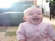 Baby Laughing At Dog Eating