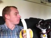 Sharing His Banana