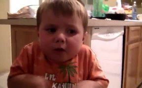 3 Year Old With Sour Candy