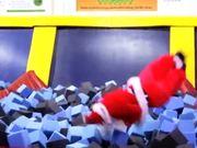 Santas On Trampolines