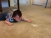 Baby Trying To Crawl