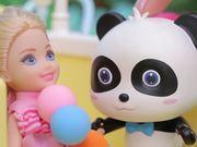 Baby Panda Rescues Little Girl