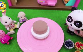 Baby Panda's Birthday Party | Make Strawberry Cake