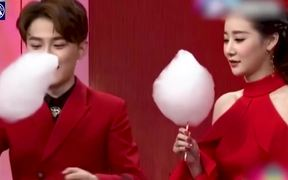 Cotton Candy Eating Challenge