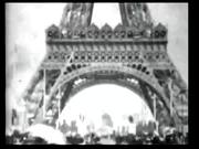 Panorama of Eiffel Tower 1900