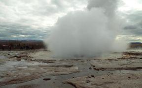 Geyser Eruption in Iceland