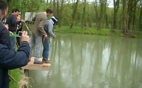Bungee Into The Lake Prank