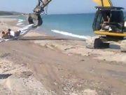 Excavator Surfing