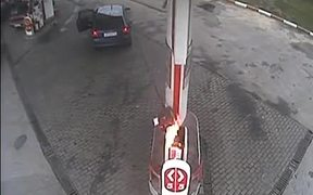 Woman Getting Some Gas