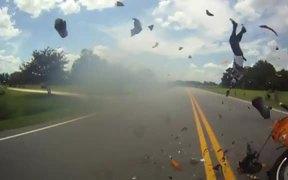 Crazy Motorcycle Crash
