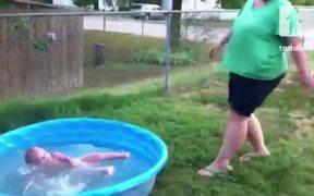 Baby Pool Fall