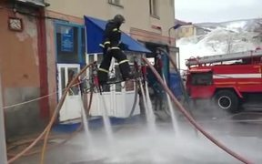Russian Firefighter Hovering