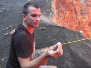 Roasting Marshmallows On Volcano