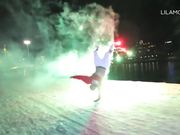 Breakdancing With Fireworks