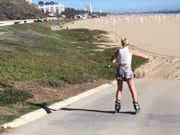 Rollerblading Girl Faceplants
