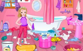 Little Girl Bathroom Cleaning Walkthrough