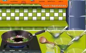 Sara's Cooking Class:Garlic Pepper Shrimp Walk-h