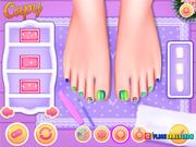 Princesses Colorful Braids and Pedicure Walkthr-gh