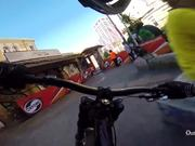 Urban Downhill Mountain Biking