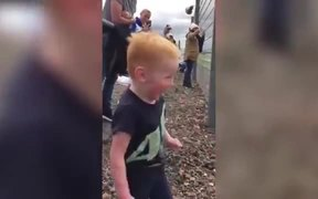 This Kid Is Really Excited About The Motorycycles