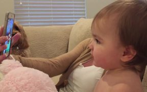 Babies Face Timing Each Other