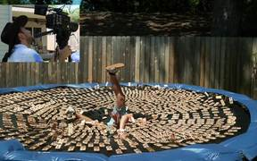 1000 Mouse Traps In Slow Motion
