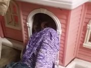 Girl Stuck In Her Dollhouse