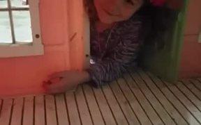 Girl Stuck In Her Dollhouse