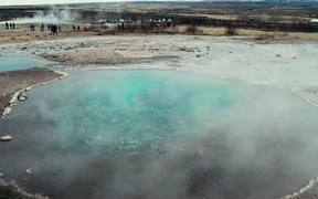Steaming Hot Spring in Iceland