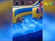 Kids Swimming in The Pool