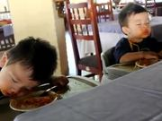 Kids Sleep Eating