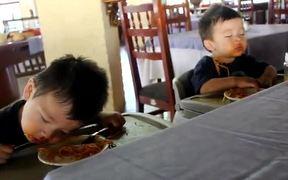 Kids Sleep Eating
