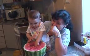 Baby and Watermelon