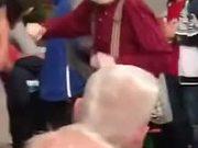 An Incredible Energetic Dancing Old Man