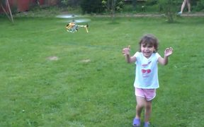 A Child And A Helicopter