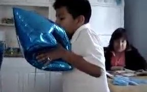 Kid Experiments Inhaling Helium