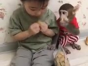 Kids & Pet Monkey