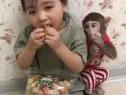 Kids & Pet Monkey