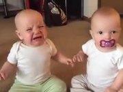 Twin Girls Fight