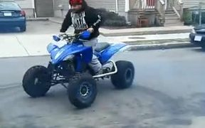 Quad Bike Stunt Ends Up Hilariously