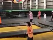 Wrong Place To Land On The Trampoline