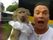 Monkey Loves To Scream On Camera