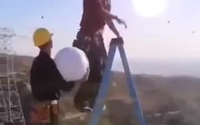 Electrician Changing A Bulb Called Sun