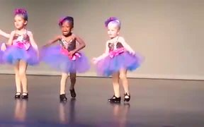 Very Passionate Little Dancer On The Stage