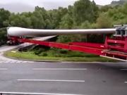 A 60-Meter Long Truck Taking Turn
