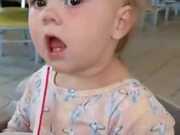Toddler With A Priceless Expression