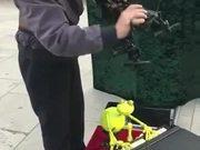 Modern Puppeteer With Modern Puppet