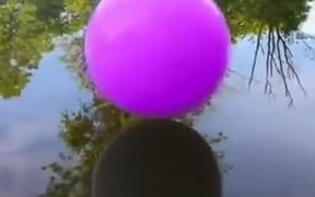 Amazing Color Smoke Inside The Bubble