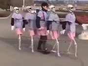 Have You Seen A Group Of Skeleton Dancing Before?