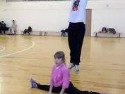 Little Girl Performing Amazing Dance Choreography